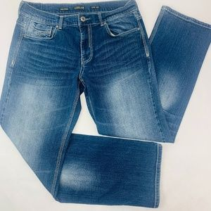 Helix Mens Jeans 32 x 30 Blue Loose Fit Straight